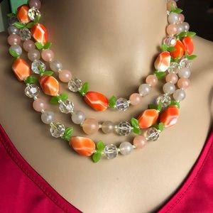 Fun unique vintage multi strand choker necklace.